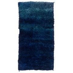Vintage Beni M'Guild Moroccan Rug, Blue