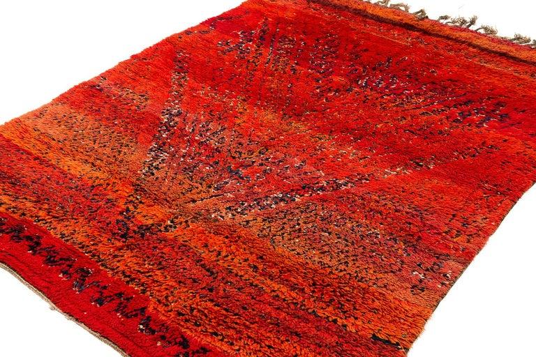 Tribal Vintage Beni Mguild Moroccan Rug For Sale
