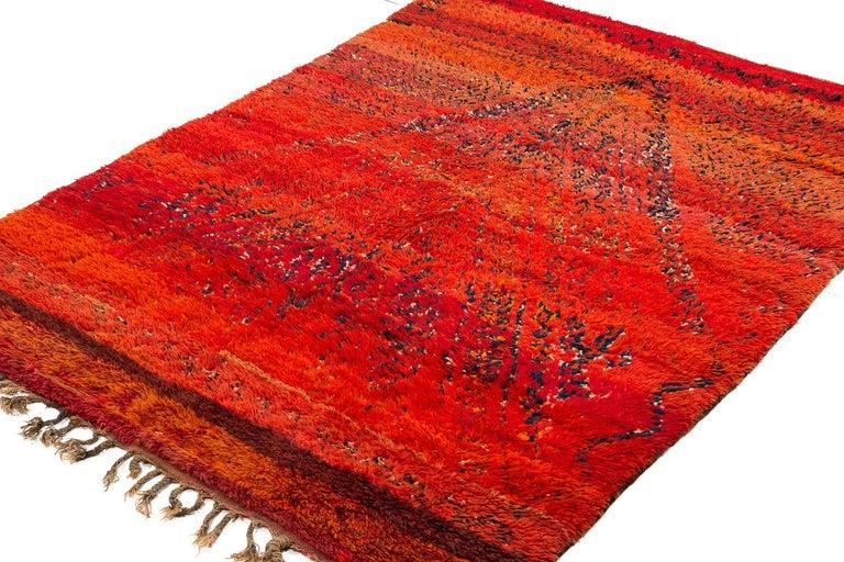Hand-Woven Vintage Beni Mguild Moroccan Rug For Sale