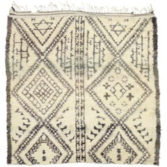 Vintage Beni M'Guild Moroccan Rug with Organic Modern Style, Square Moroccan Rug