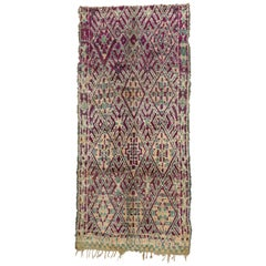 Vintage Beni M'Guild Moroccan Rug with Bohemian Memphis Style, Berber Area Rug
