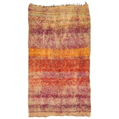 Vintage Beni M'Guild Moroccan Rug with Boho Beach Vibes and Modern Style