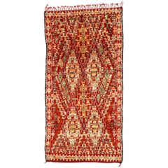 Vintage Beni M'Guild Moroccan Rug with Modern Northwestern Style