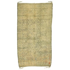 Vintage Beni M'Guild Moroccan Rug with Muted, Neutral Hues and Modernist Style