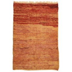 Vintage Beni Mrirt Berber Moroccan Rug with Rustic Mid-Century Modern Style
