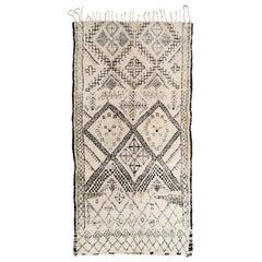 Vintage Beni Oarain Moroccan Rug