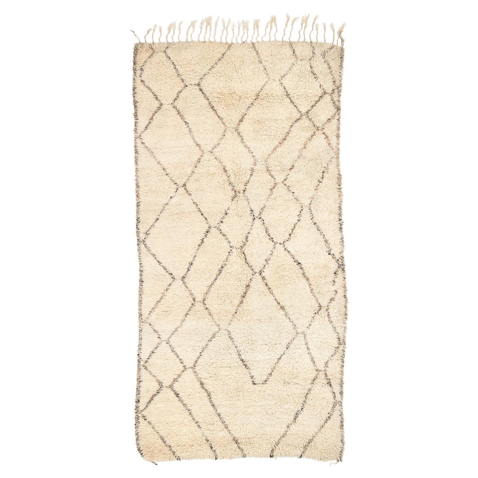 Vintage Beni Ouarain Moroccan Vintage Rug