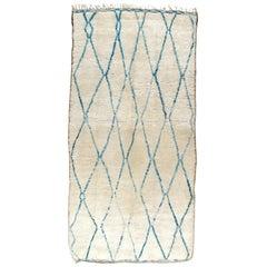 Vintage Beni Ourain Berber Tribal Moroccan Rug