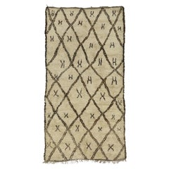 Vintage Beni Ourain Moroccan Rug with Hygge Vibes, Berber Moroccan Rug