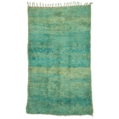 Vintage Beni Ourain Moroccan Rug with Modern Bohemian Style