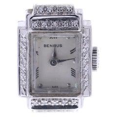 Vintage Benrus Silver Dial 14 Karat Gold