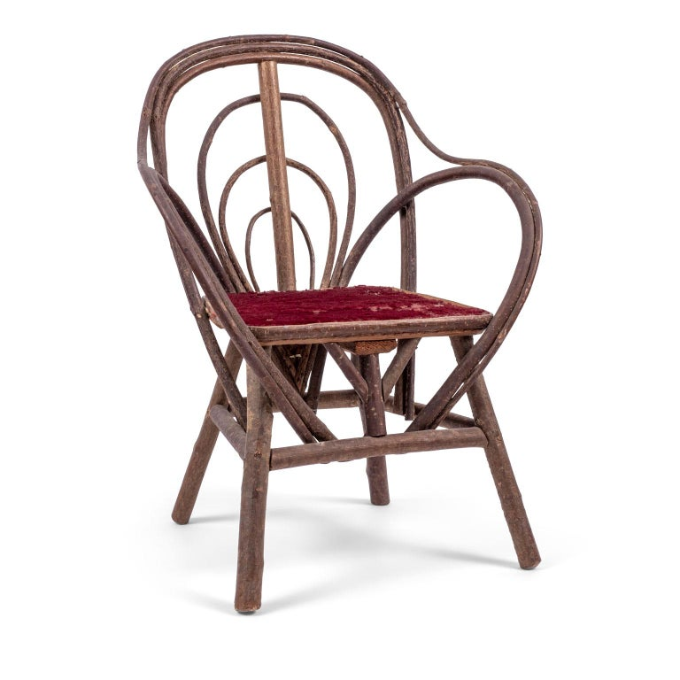 Vintage Petite Bent-Willow Chair For Sale 4