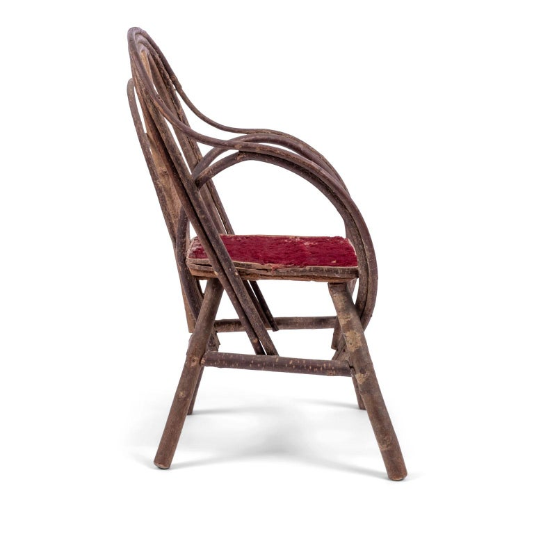 Vintage Petite Bent-Willow Chair In Good Condition For Sale In Houston, TX