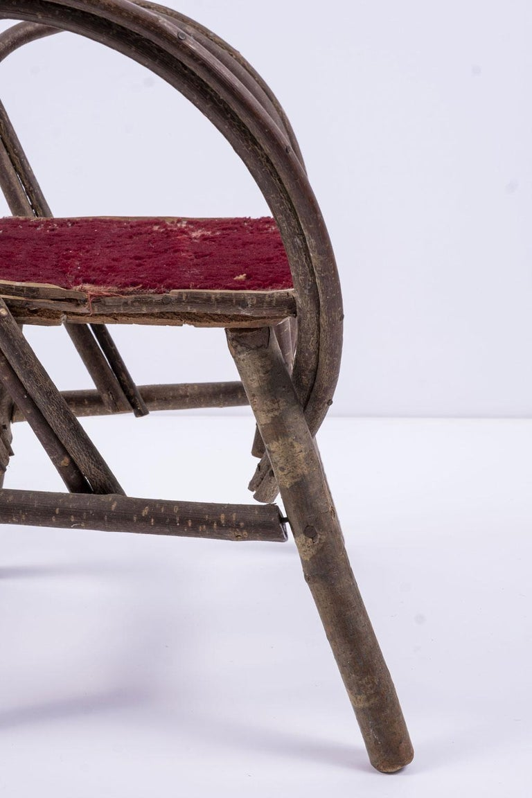 Early 20th Century Vintage Petite Bent-Willow Chair For Sale