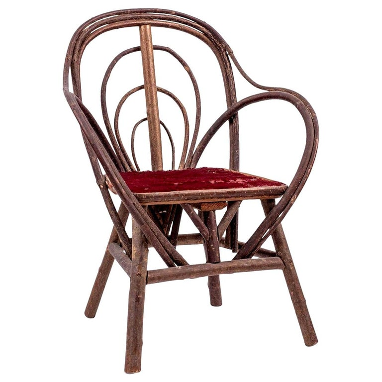 Vintage Petite Bent-Willow Chair For Sale 5