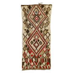 Vintage Berber Moroccan Azilal Rug with Mid-Century Modern Tribal Style