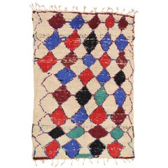 Vintage Berber Moroccan Azilal Rug with Tribal Style