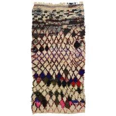 Vintage Berber Moroccan Boucherouite Rug, Colorful Moroccan Shag Area Rug
