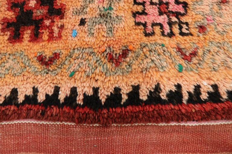 20th Century Vintage Berber Moroccan Boujad Rug with Contemporary Abstract Tribal Style For Sale