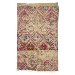 Vintage Berber Moroccan Boujad Rug with Hygge Bohemian Style