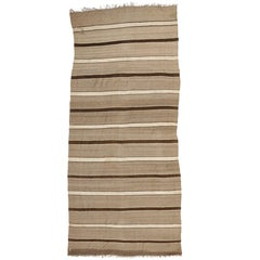 Vintage Berber Moroccan Kilim Rug with Stripes and Modern Style