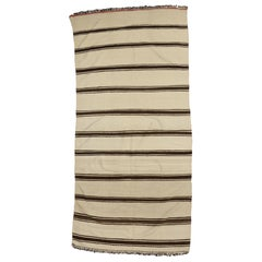 Modern Striped Area Rug, Vintage Berber Moroccan Kilim Rug with Stripes