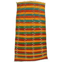 Vintage Berber Moroccan Kilim Rug with Stripes
