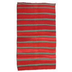 Vintage Berber Moroccan Kilim with Tribal Boho Chic Kilim Rug
