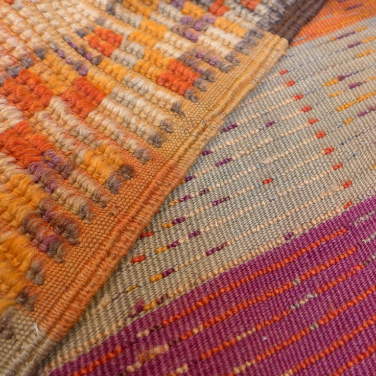 Hand-Woven Vintage Berber Moroccan Rug For Sale