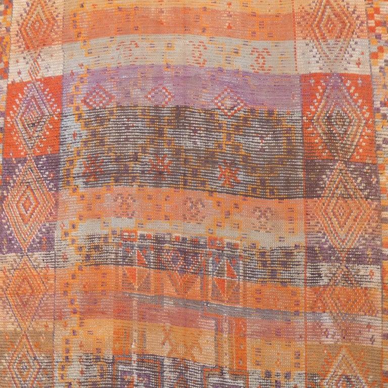 Wool Vintage Berber Moroccan Rug For Sale