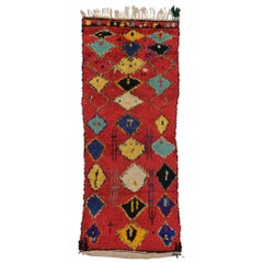 Vintage Berber Moroccan Rug Runner, Shag Hallway Runner