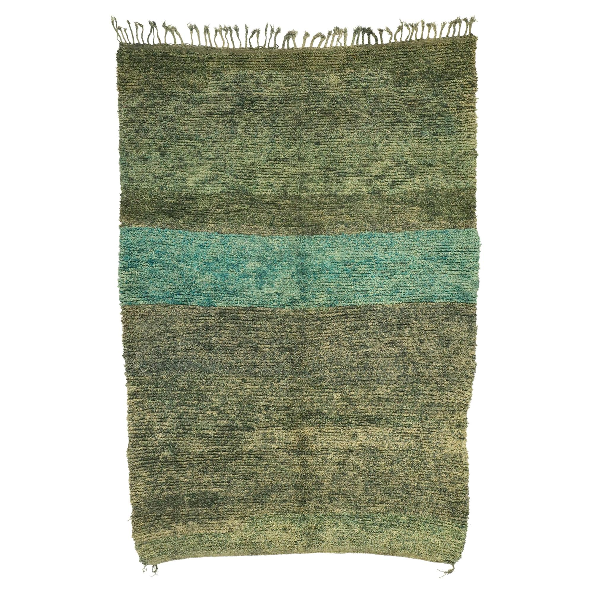 Vintage Berber Moroccan Rug with Abstract Expressionism and Biophilic Design