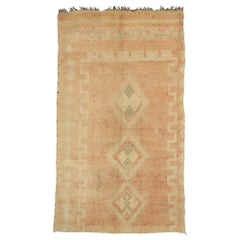 Vintage Berber Moroccan Rug with Bohemian Style and Cozy Hygge Vibes