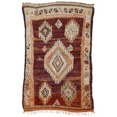 Vintage Berber Moroccan Rug with Bohemian Style
