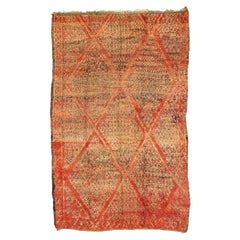Vintage Berber Moroccan Rug with Diamond Pattern and Modern Retro Style