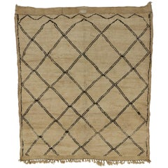 Vintage Berber Moroccan Rug with Hygge Vibes and Modern Bauhaus Style