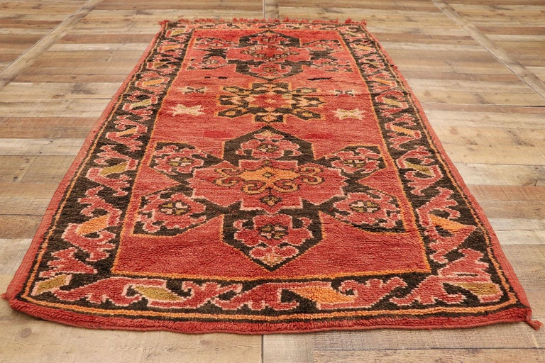 Vintage Berber Moroccan Rug with Mid-Century Modern Style For Sale 2