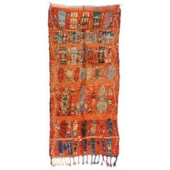 Vintage Berber Moroccan Rug with Modern Northwestern Desert Boho Tribal Style