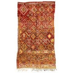 Vintage Berber Moroccan Rug with Modern Northwestern Style