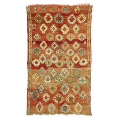 Vintage Berber Moroccan Rug with Modern Rustic Style