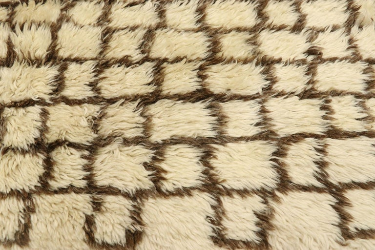 Hand-Knotted Vintage Berber Moroccan Rug with Modernist Bauhaus Style and Cubism Design For Sale