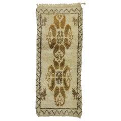 Vintage Berber Moroccan Rug with Organic Modern Style, Short Shag Hallway Runner