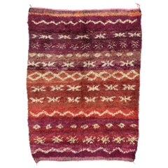 Vintage Berber Moroccan Rug with Postmodern Memphis Style, Moroccan Berber Rug