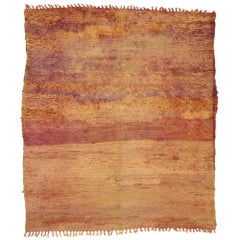 Vintage Berber Moroccan Rug with Rustic Bohemian Style