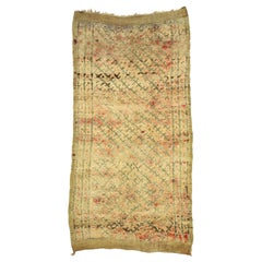 Vintage Berber Moroccan Rug with Rustic Organic Modern Style