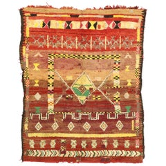 Vintage Berber Moroccan Rug with Tribal Artisan Style