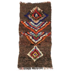 Vintage Berber Moroccan Rug with Tribal Boho Chic Style, Accent Shag Rug