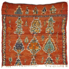 Vintage Berber Moroccan Rug with Tribal Postmodern Style