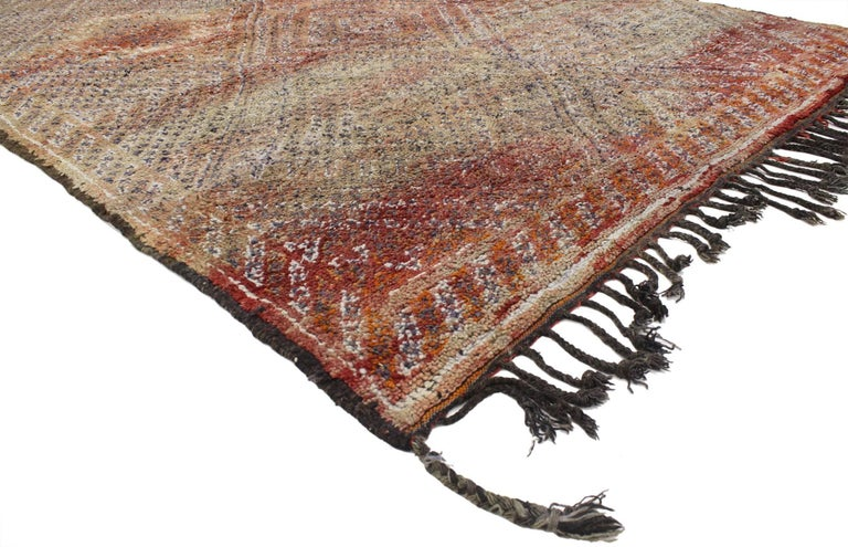 Wool Vintage Berber Moroccan Rug with Modern Tribal Style For Sale