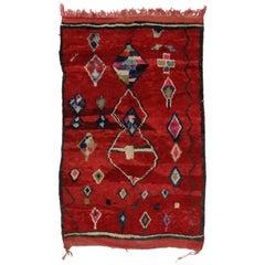 Vintage Berber Moroccan Rug with Tribal Nomadic Style